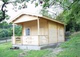 chata, chatička, pronájem chaty, kempingová chatka, kemp, výstavba, realizace kempu