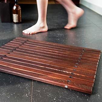 thermowood rohože, dřevěné obložení koupelny