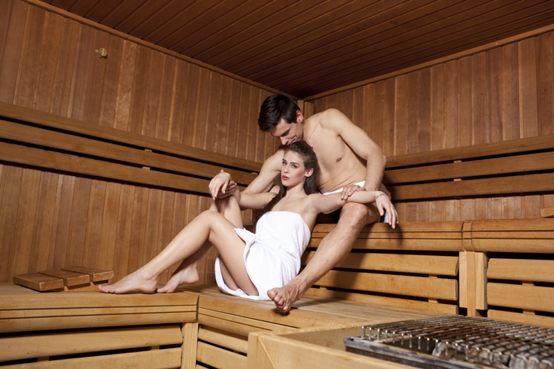 Divoky sex sex v saune